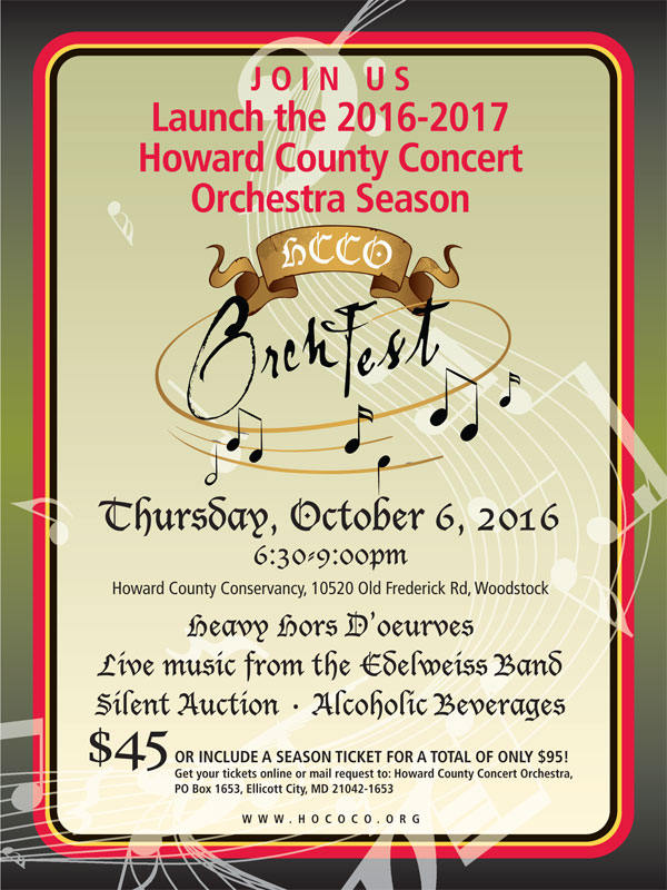HCCO OrchFest 2016 @ Howard County Conservancy | Woodstock | Maryland | United States