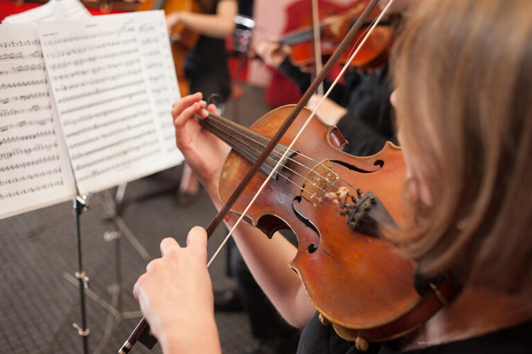 Music School on the violin is one of the most popular instrument